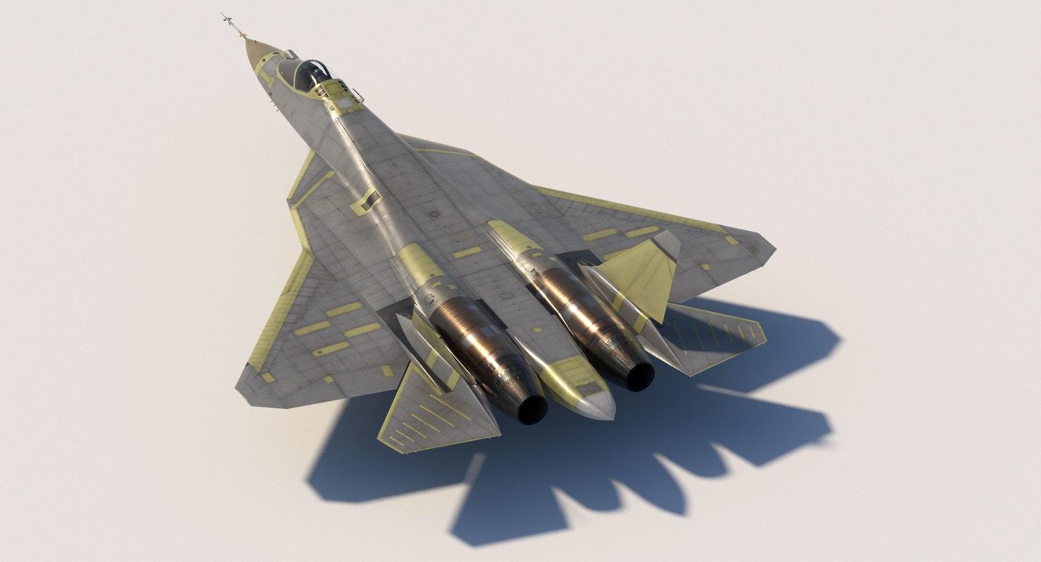 sukhoi su57 prototypes 3D model