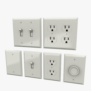 3D light switches outlets