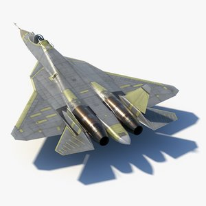 sukhoi su57 prototypes 3D model