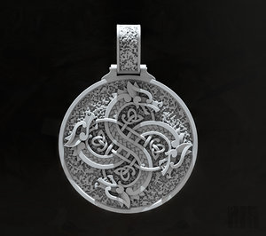 fashion jewelry viking fylfot 3D model