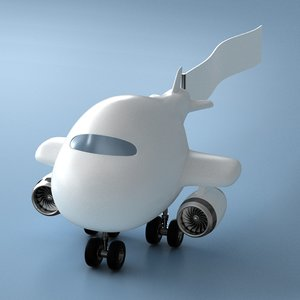 toy airplane 3D model