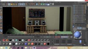 sala room furniture 3D model