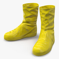Rubber Safety Boots 3D Model