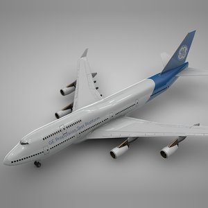 boeing 747-400 general electric 3D