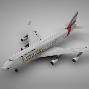 boeing 747-400 emirates l106 model