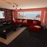 visuals living elegant room 3D model