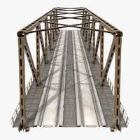 Railway Bridge Span 3D Model