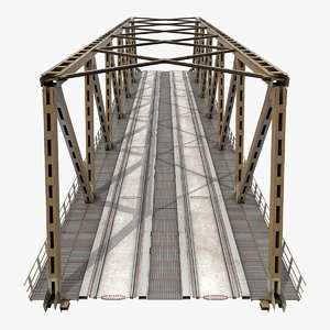 3D railway bridge span rail