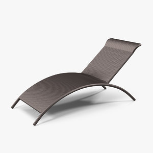 3D model sun lounge chair 2