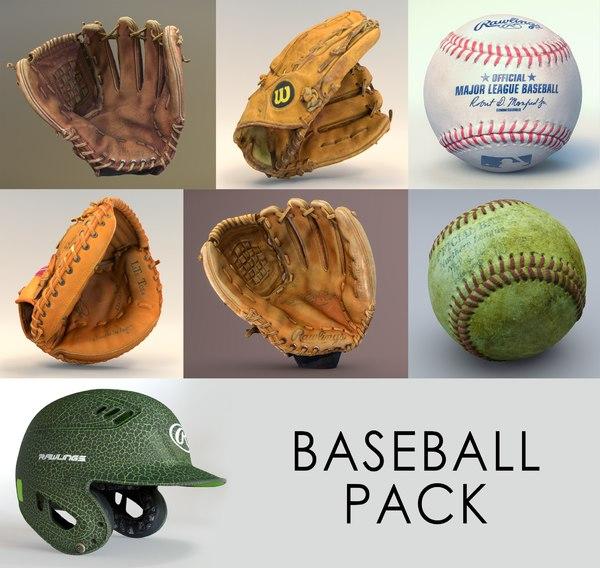 baseball balls 3D