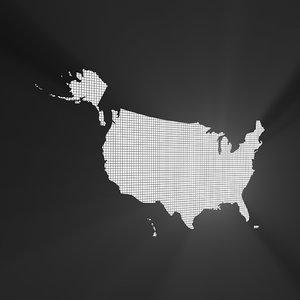 united states cutout 3D model