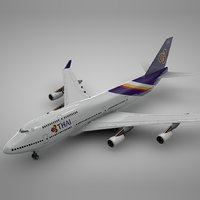 boeing 747-400 thai airways 3D