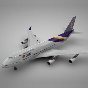 boeing 747-400 thai airways 3D