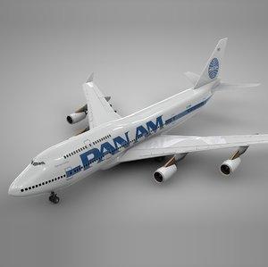 3D model boeing 747-400 pan l111