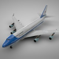 boeing 747-400 air force 3D model