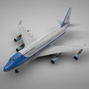 boeing 747-400 air force 3D model