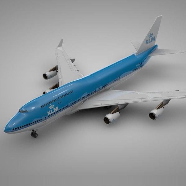 boeing 747-400 klm l109 3D model