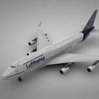 3D boeing 747-400 lufthansa l110