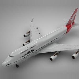 boeing 747-400 qantas l112 3D model