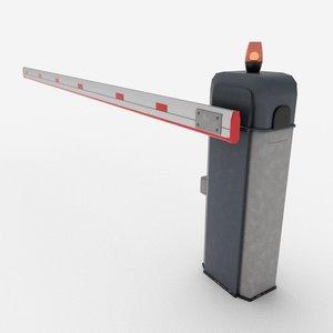 3D model barrier