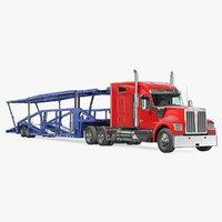Truck Hauler Trailer 3D Model