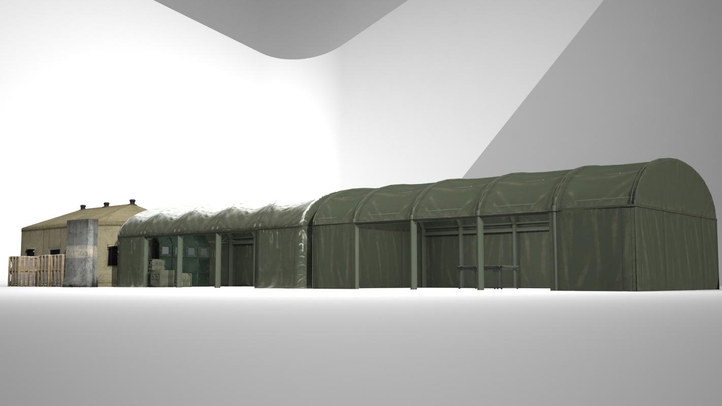 military camp commander 3D