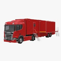 3D model scania exhibition trailer