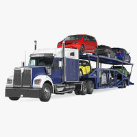 3D truck car carrier