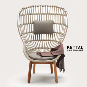 3D model armchair chair kettal