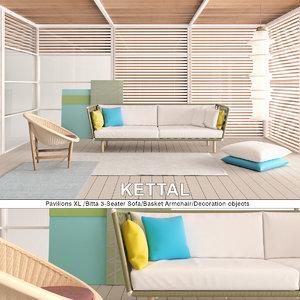 kettal pavilions xl set 3D model