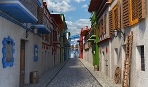 3D street village
