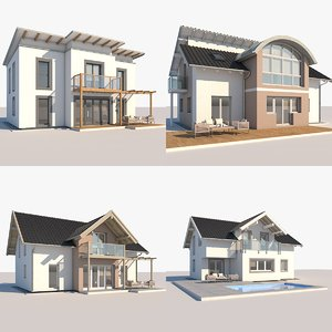 3D contemporary houses