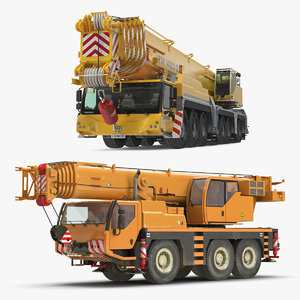 3D mobile cranes liebherr model