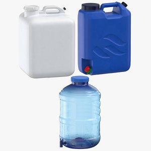 water containers 3D model