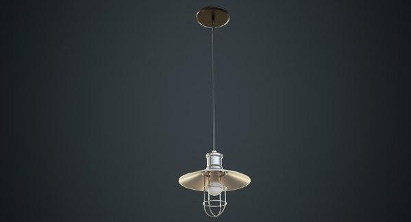 3D model hanging lamp 3b