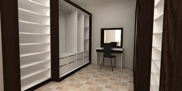 clothes storage cabinet 3D model