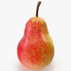 3D model pear red 01 hi