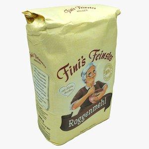 rye flour 3D model