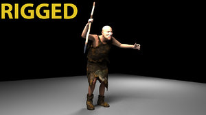 caveman neanderthal character 3D model