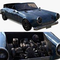 classic car fiat 124 3D
