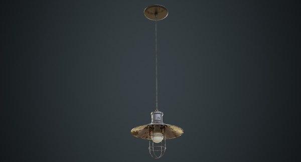 3D hanging lamp model