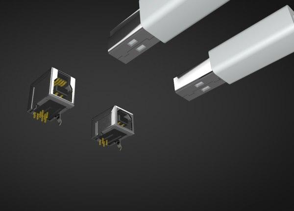 3D usb connector