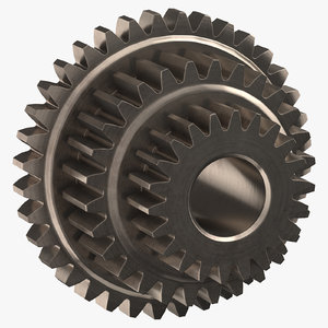 compound spur gear 3D model