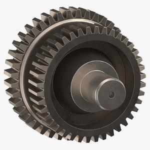 3D dual spur gear