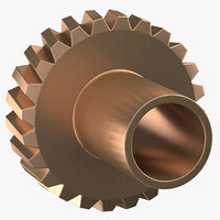 helical gear 01 3D