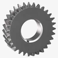 helical gear 04 3D model