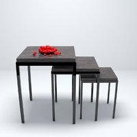 modern desk 3D model