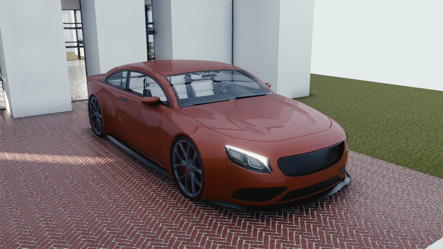 car blender eevee 2 3D model