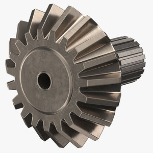 3D pinion bevel gear 07 model