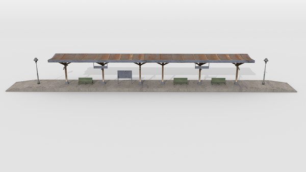 old railway platform model